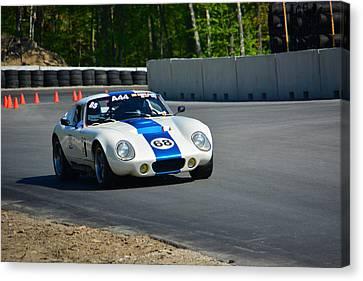 Daytona Shelby Cobra Replica Canvas Print by Mike Martin