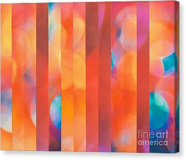 Canvas Print featuring the mixed media Dazzler by Jan Bickerton