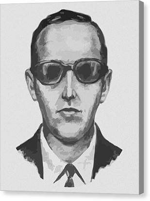 Db Cooper Canvas Print by War Is Hell Store