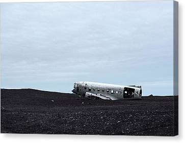 Canvas Print featuring the photograph Dc-3 Plane Wreck Iceland by Brad Scott