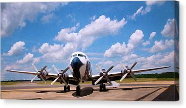 Canvas Print featuring the digital art Dc 7 by Chris Flees