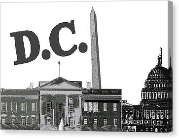 Us Capital Canvas Print - Dc On Edge by Pharris Art