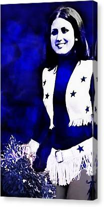 Dallas Cowboy Cheerleaders Canvas Print - Dcc 4ever Paula by Carrie OBrien Sibley