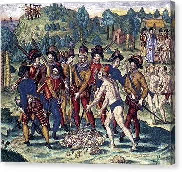 De Bry: Spanish Conquest Canvas Print by Granger