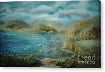 De Ja View Canvas Print by Vivian  Mosley