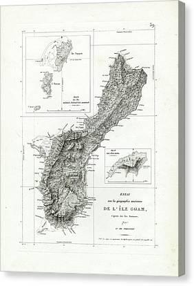 De L Ile Gwam Guam Canvas Print