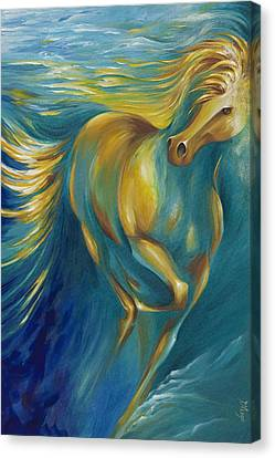 Canvas Print featuring the painting De La Mare by Dina Dargo