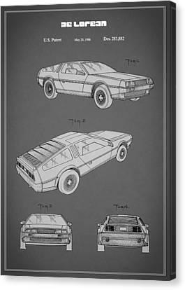 De Lorean Patent 1986 Canvas Print