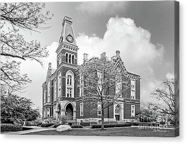 Small Town Canvas Print - De Pauw University East College by University Icons