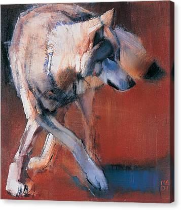 Wolves Canvas Print - De Siberie by Mark Adlington