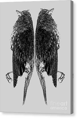 Dead Birds Tee Canvas Print by Edward Fielding