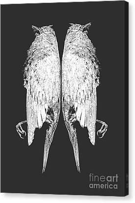 Dead Birds Tee White Canvas Print by Edward Fielding