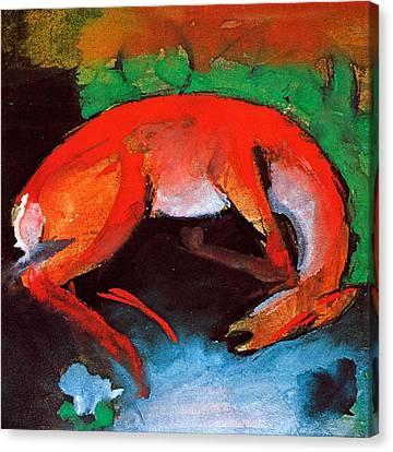 Dead Deer Canvas Print