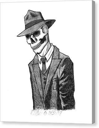 Sam Spade Canvas Print - Dead Detective by Will Demos