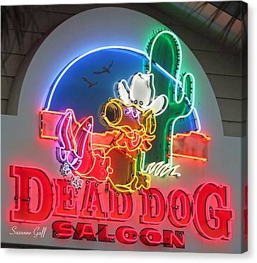 Dead Dog Saloon Canvas Print by Suzanne Gaff