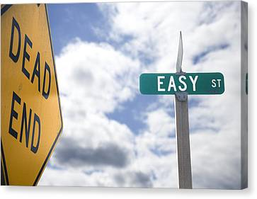 Dead End On Easy Street Canvas Print by Ed Book