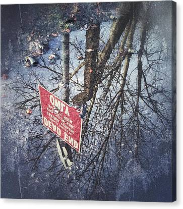 Canvas Print featuring the photograph Dead End by RKAB Works