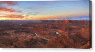 Dead Horse Sunrise II Canvas Print