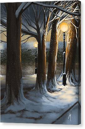 Dead Of Night Canvas Print by Veronica Minozzi