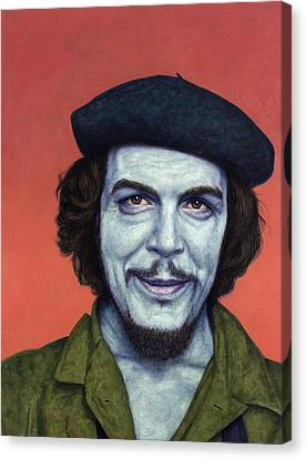 Dead Red - Che Canvas Print by James W Johnson