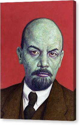 Dead Red - Lenin Canvas Print by James W Johnson