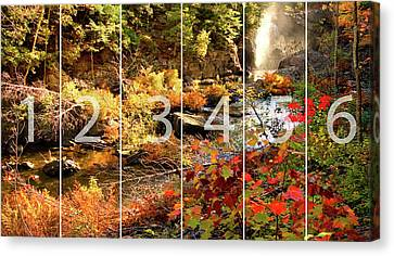 Dead River Falls Marquette Michigan Panoramic Map Canvas Print by Michael Bessler