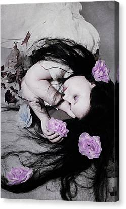 Dead Roses Canvas Print by Cambion Art