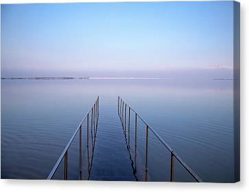 Canvas Print featuring the photograph The Dead Sea by Yoel Koskas