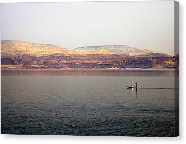 Dead Sea Sojourn Canvas Print by Deb Cohen