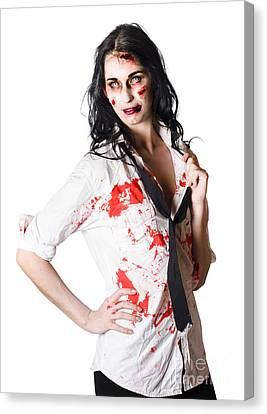 Dead Sexy Businesswoman Canvas Print