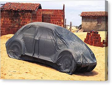 Dead Volkswagon In Brazil Canvas Print by Carl Purcell