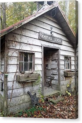 Deadfall One Room Schoolhouse  Gnawbone Indiana Canvas Print by Scott D Van Osdol