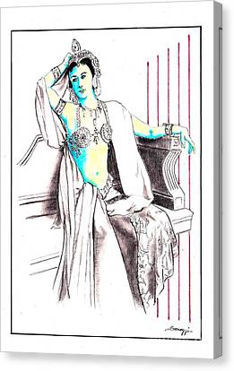 Deadly Diva, Mata Hari -- Portrait Canvas Print