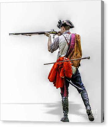 French And Indian War Canvas Print - Deadly Intent  by Randy Steele
