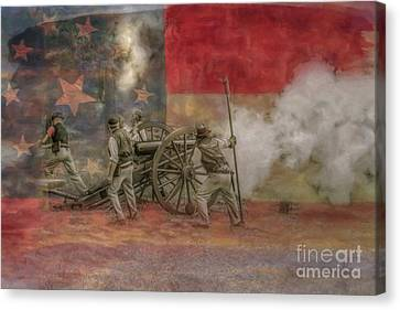 Deadly Work To Do Civil War Cannon Canvas Print