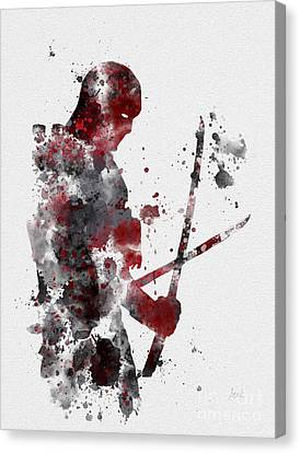 Deadpool Canvas Print by Rebecca Jenkins
