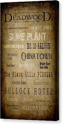 Bus Roll Canvas Print - Deadwood Roll Call Of Historic Landmarks by Daniel Hagerman