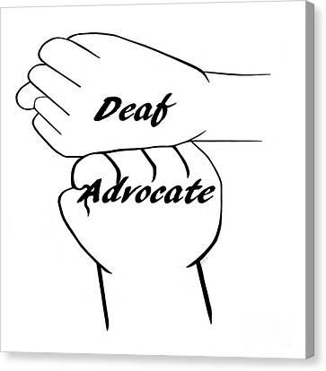 Deaf Advocate Canvas Print by Eloise Schneider
