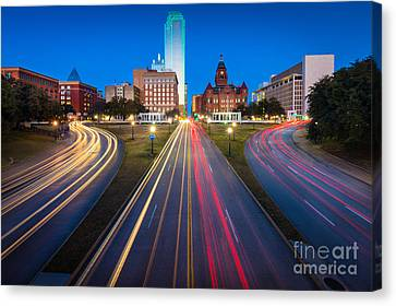Dealy Plaza Canvas Print by Inge Johnsson