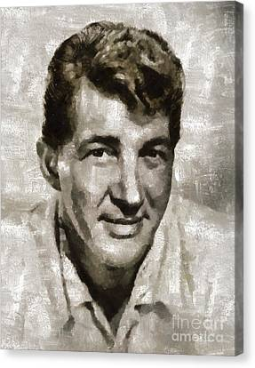 Dean Martin By Mary Bassett Canvas Print
