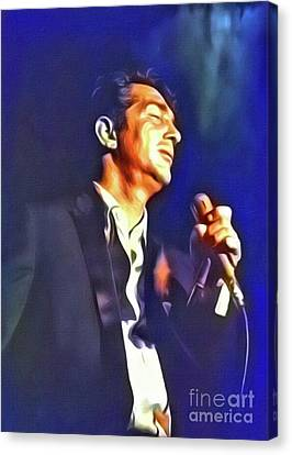 Dean Martin, Hollywood Legend. Digital Art By Mb Canvas Print