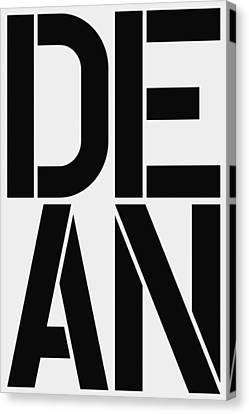 Dean Canvas Print by Three Dots