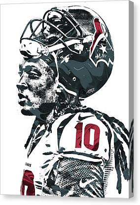 Deandre Hopkins Houston Texans Pixel Art 2 Canvas Print by Joe Hamilton