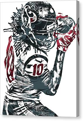 Deandre Hopkins Houston Texans Pixel Art Canvas Print by Joe Hamilton