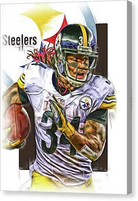 Deangelo Williams Pittsburgh Steelers Oil Art Canvas Print