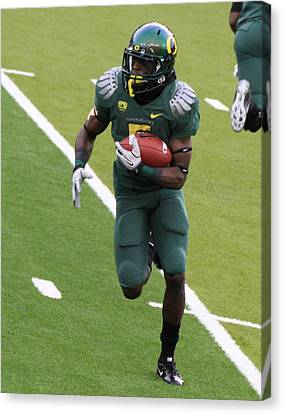 De'anthony Thomas Oregon Ducks Canvas Print by Sam Amato