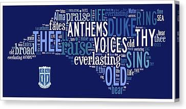 Dear Old Duke - Thy Name We Sing Canvas Print