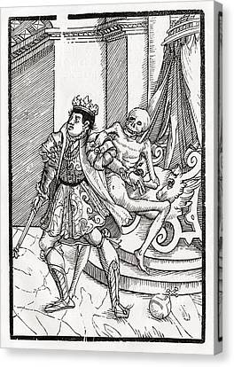 Death Comes For The King From Der Canvas Print
