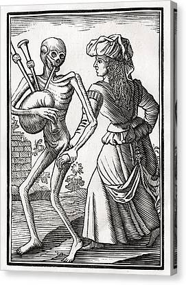 Death Comes For The Unbelieving Woman Canvas Print