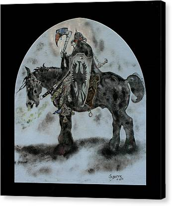 Death Dealer Canvas Print by Suzanne Blender